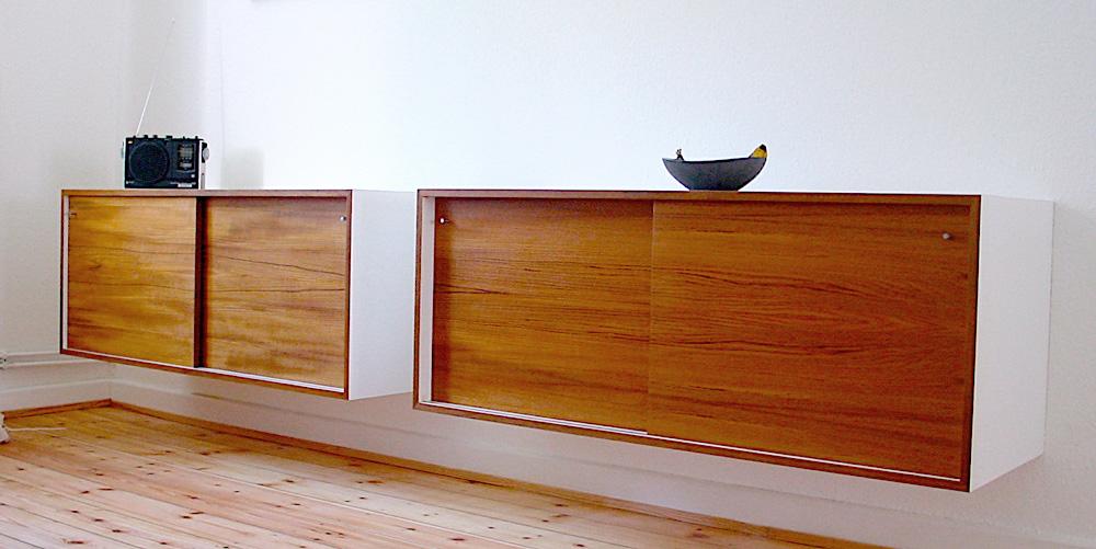 Sideboard hängend  Sven Klinkerfuss » Zwei hängende Sideboards