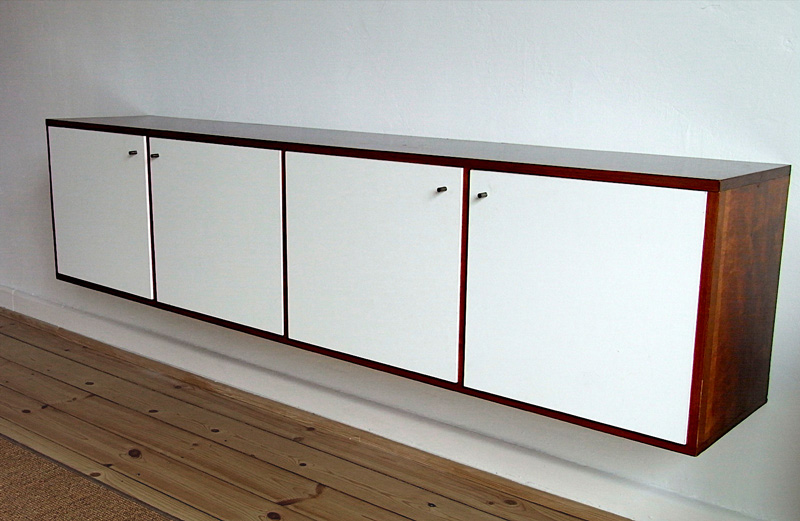 Sideboard Mahagoni/weiß
